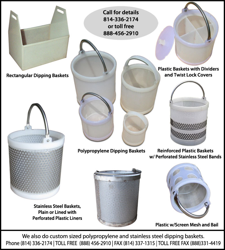 Home Dipping Basket Brochure Photo of dipping baskets